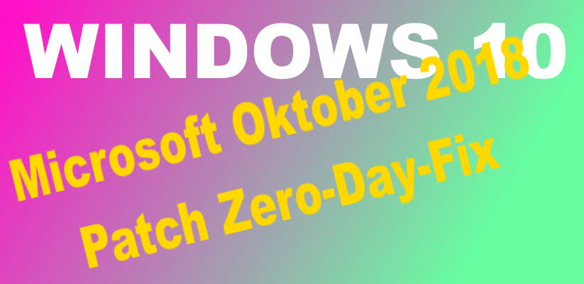 Microsoft Oktober Patch Zero-Day-Fix