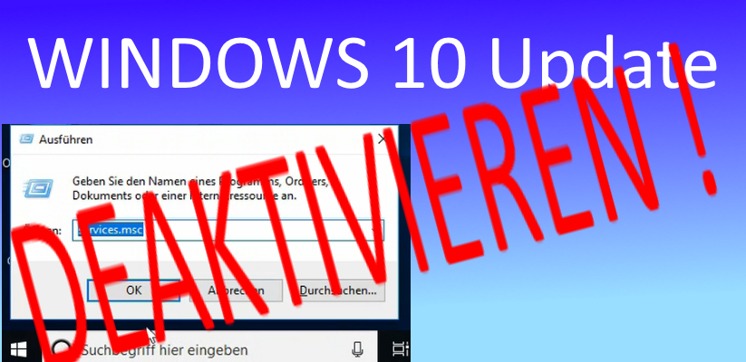 Windows 10 Updates deaktivieren